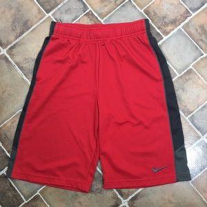 Boys Nike Dri-Fit Shorts Red/Black Sz L  H11